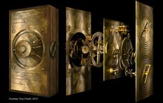 Exploded computer reconstruction of the Antikythera Mechanism. https://figshare.com/articles/_Exploded_computer_reconstruction_of_the_Antikythera_Mechanism_/1122365