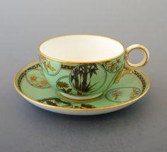 "Ceramic ""Japonism pattern cup & saucer"""