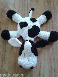 COW Pillow Cushion Soft TOY Amigurumi Animal Crochet Pattern BY Peach Unicorn   eBay