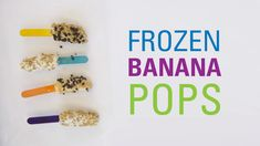 These frozen banana pops are a delicious summer delight. Your kiddo may feel like he's eating ice cream, but these pops are a healthy treat that even mom and dad will look forward to. Healthy Treats, Healthy Kids, Frozen Banana Pops, Eating Ice Cream, Kids Mental Health, Childhood Cancer, Childrens Hospital, Cooking With Kids, Kid Friendly Meals