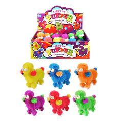 6cm Light Up Flashing Bouncy Tangle Ball Stress Relief Kids Party Bag Filler Toy
