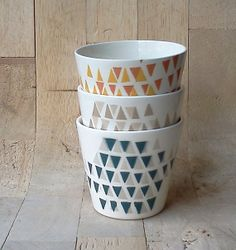 Stacking Cups by perchceramics on Etsy, $14.00