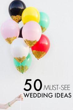50 Genius Wedding Ideas Inspired by Pinterest!