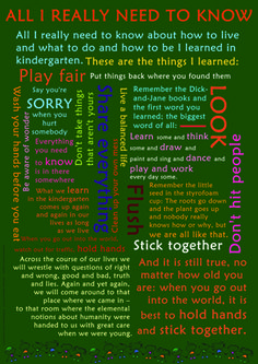 all i need to know i learned in kindergarten - Google Search