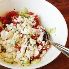 Tomaat-komkommersalade met feta recept - Recepten van Allrecipes