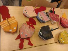 Guirot; kuva Minna Pajari Kindergarten, Woodworking, Teaching, Kids, Crafts, Craft Ideas, Young Children, Boys, Manualidades