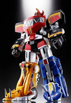 Figura GX-72 Megazord, 26 cm. Mighty Morphin Power Rangers. Soul of Chogokin Bandai  Figura de 26 cm basada en la serie Power Rangers con GX-72 Megazord.