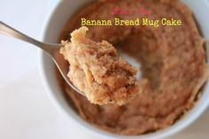 Warm Banana Bread Mug Cake! All the delicious flavors or banana bread in less than a minute. #glutenfree