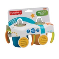 Fisher-Price+2-pk.+Baby's+First+Sippy+Cups