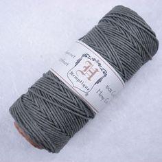 $7.95 205ft Polished Hemp Cord - Grey