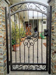 Wrought Iron Security Doors & Screens - San Diego, CA Wrought Iron Gate Designs, Wrought Iron Garden Gates, Metal Gates, Wrought Iron Doors, Aluminum Gates, Metal Gate Door, Garden Gates And Fencing, Metal Doors, Wooden Gates