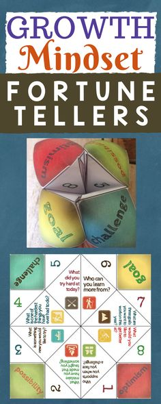 Growth Mindset Fortune Tellers! Fun paper craft for teaching your growth mindset lesson.