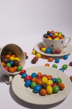 Cup with M&m's