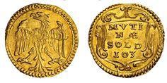 Italian States/ Modena AV Scudino d'oro da 103 soldi ND 1.16g./15.2mm. Modena Mint Duke Francesco I d'Este 1629-58