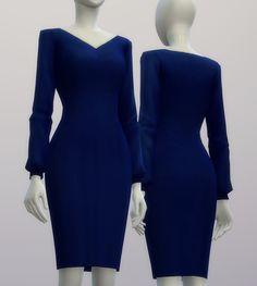 Chiffon blouse dress at Rusty Nail via Sims 4 Updates