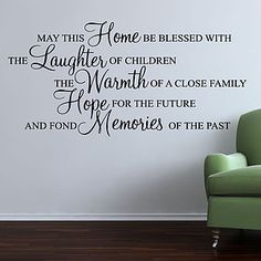 May This Home Be Blessed Wall Stickers Quote