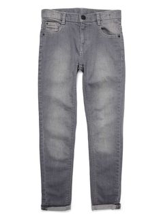 Boys Grey Super Skinny Jeans - BHS