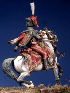 Major des Hussards de la Garde Royal de Murat. By Enrico Azeglio