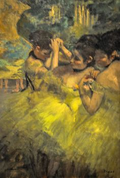 Yellow Dancers (detail), 1876, by Edgar Degas (French, 1834-1917)