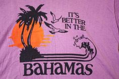 Vintage 80's Purple Bahamas Beachy Tourist T-Shirt