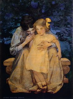 1908 Jessie Wilcox Smith (American 1863-1935) Mother and Child