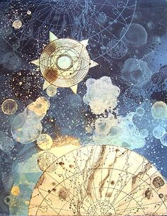 YES! all the colours, layers, overlapping, bubbles, stars, yes!! Tallmadge Doyle, Celestial Mapping