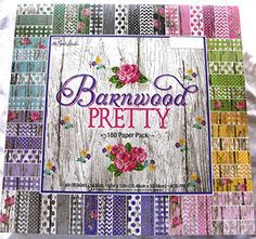 Barnwood Pretty 12x12 Scrapbooking Paper Pack 180 Sheets Chevron Dots Roses Gingham Country Shabby Farm Vintage Old Wood *** You can find more details by visiting the image link.Note:It is affiliate link to Amazon.