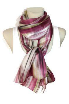 Pink Geometric Silk Scarf - Gift Idea for Her - Satin Fabric Scarf - Women Fashion Accessories - Printed Silk Scarf - Spring Summer Autumn