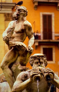 Fountain of the Moor ~ Piazza Navona ~ Rome.