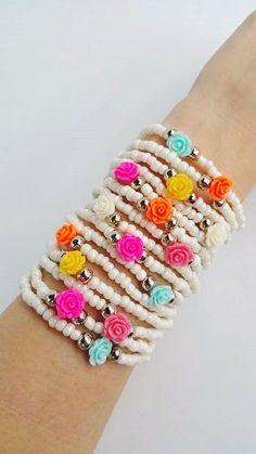 Layering beaded bracelets, you are buying 15 bracelets in this listing. Bohemian Bracelets, Bohemian Jewelry, Beaded Jewelry, Handmade Jewelry, Beaded Bracelets, Silver Jewelry, Layered Bracelets, Bijoux Diy, Strand Bracelet