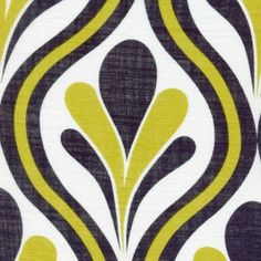 Various Uses Fabric- POP With Linen Look Yellow/Black - Woven Print EK-QS09001 from Etsy Shop ikoplus