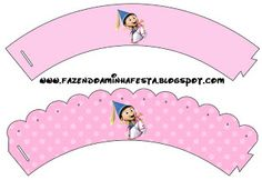 Despicable Me Girls - Full Kit with frames for invitations, labels for snacks, souvenirs and pictures!   Making Our Party