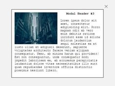 A lightweight, easy-to-use jQuery modal plugin which has the ability to load and display inline or external contents in a responsive modal popup. #jquery #Modal