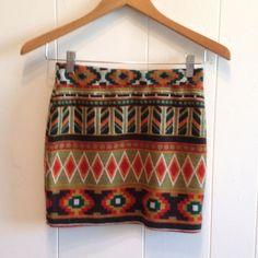 SALE ITEM Tribal Print Tube Skirt Tribal color tube skirt. Size: Small fits 0/2 Vintage Skirts