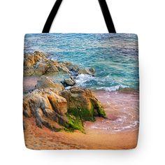 Rocks On The Shore Tote Bag by Marina Grey