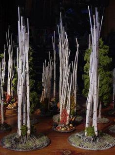 Tree terrain. Dead birch