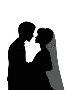 Stock vector of  Groom and bride silhouette  31d3f48252