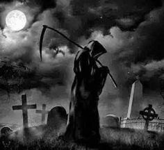 Death Reaper, Grim Reaper Art, Grim Reaper Tattoo, Don't Fear The Reaper, Reaper Drawing, Graveyard Tattoo, Dark Creatures, Rock Poster, Gothic Fantasy Art