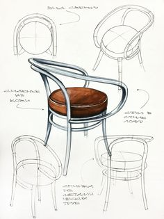 chair design drawing. Il S\u0027agit De Différentes Vue D\u0027une Meme Chaise . Si Je Veux. Sketch InspirationProduct SketchProduct Design SketchingLa ChaiseChair DrawingDrawing Chair Drawing