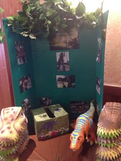 Close up of gift table