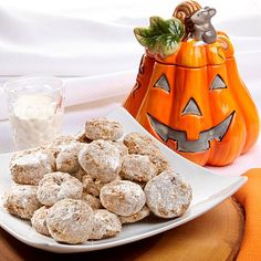David's Cookies Jack O' Lantern Jar with Meltaways