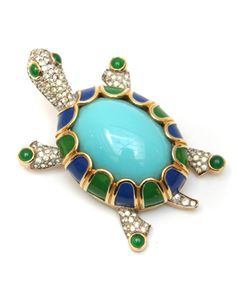 Summer fun! This 1950s Jomaz turtle pin is now our cover piece!
