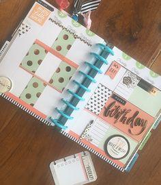 MAMBI Planner - My Happy Planner - Michaels - Hobby Lobby - Miami - Birthday Spread - Virgo Season