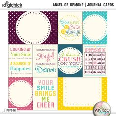 Angel or Demon | Journal Cards