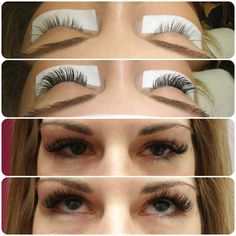 Lash Extensions - A mix of B and C curl, 9's-13's.