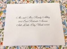 Calligraphy Envelope Addressing for Italian Wedding Invitations. Envelope Addressing, Calligraphy Envelope, Wedding Calligraphy, Wedding Envelopes, Wedding Stationery, Italian Wedding Invitations, Cards Against Humanity, Diy Wedding Calligraphy, Wedding Wraps