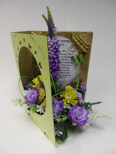 Handcrafted Greetings card with your personal message for any occasions only from www.floralfusions.com