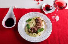 Κόντρα φιλέτο μοσχαρίσιο με πουρέ πατάτας και σάλτσα κρασιού Kai, Ramen, Mexican, Beef, Cooking, Ethnic Recipes, Food, Potatoes, Meat