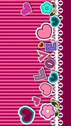 Red and pink striped wallpaper with love And hearts down left side Pretty Phone Wallpaper, Name Wallpaper, Hello Kitty Wallpaper, Heart Wallpaper, Pink Wallpaper, Cellphone Wallpaper, Screen Wallpaper, Cool Wallpaper, Pattern Wallpaper