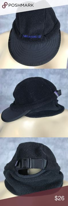 Patagonia black fleece Sz small hat Great used condition Patagonia Accessories Hats